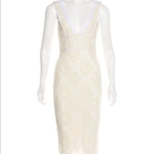 VICTORIA BECKHAM Lace Midi Dress (NWT)